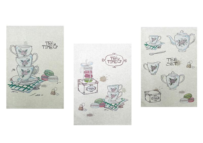 Набор полотенец из 3-х штук Время чая-3 50*70