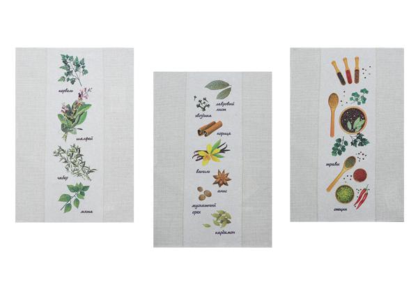 Набор полотенец из 3-х штук Травы и специи-3 49*70